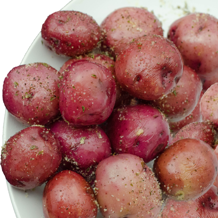 Red Potatoes on a plate